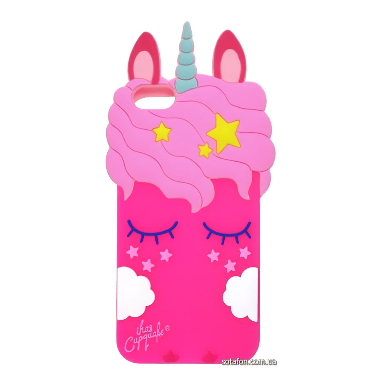 Чехол-накладка TPU 3D Little Unicorn для IPhone 5 / 5s / SE Crimson