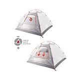 Четырехместная палатка High Peak Nevada 4 (Dark Grey/Red), фото 4