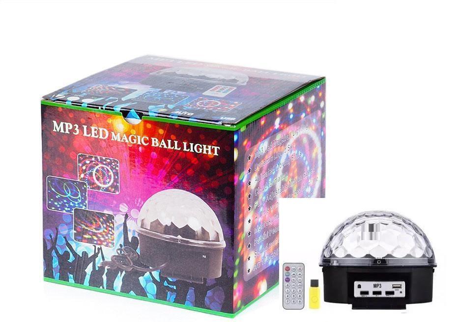Светодиодный диско шар Bluetoothmagic ball light, Mp3, led+пульт, флешка