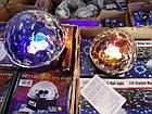 Светодиодный диско шар Bluetoothmagic ball light, Mp3, led+пульт, флешка, фото 4