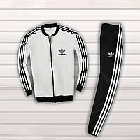 Спортивный костюм мужской в стиле Adidas Black-White осенний | весенний
