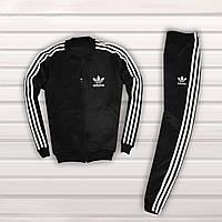 Спортивный костюм мужской в стиле Adidas Black осенний | весенний