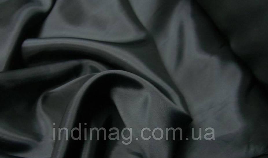 Ткань подкладочная чёрная