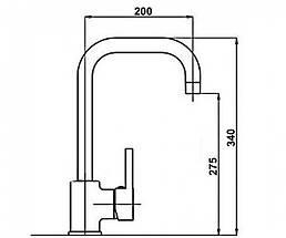 Смеситель для кухни POTATO P4009   , фото 3