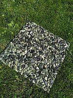 Каменный ковер. Греческий мрамор. Галька зеленая.