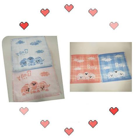 Полотенце-салфетка кухонное хлопок 25*25 см (от 12 шт), фото 2
