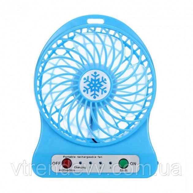 Вентилятор Portable Fan Mini Синий