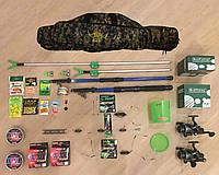 Универсален! Всё в ОДНОМ! Набор для рыбалки №22 Спиннинг + удочка + чехол +катушки В СБОРЕ