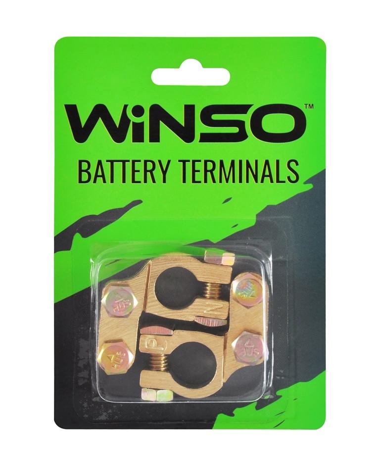 Клеммы аккумуляторные латунные WINSO 146400, 2шт. (блистер)