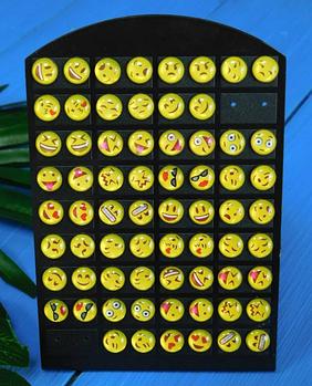 Серьги гвоздики Emoji