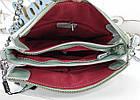 Женская сумка-клатч цвета мята с принтом, натуральная кожа , фото 4