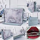 Женская сумка-клатч цвета мята с принтом, натуральная кожа , фото 9