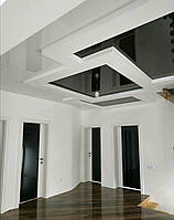 """Двери Verto Элегант 1 Триплекс черный  цвет Белый """"Резист"""""""