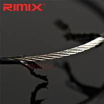 Rimix ПВХ изоляцией из нержавеющей стали резину overstretches проволоки круг красочный брелок брелок - 1TopShop, фото 2