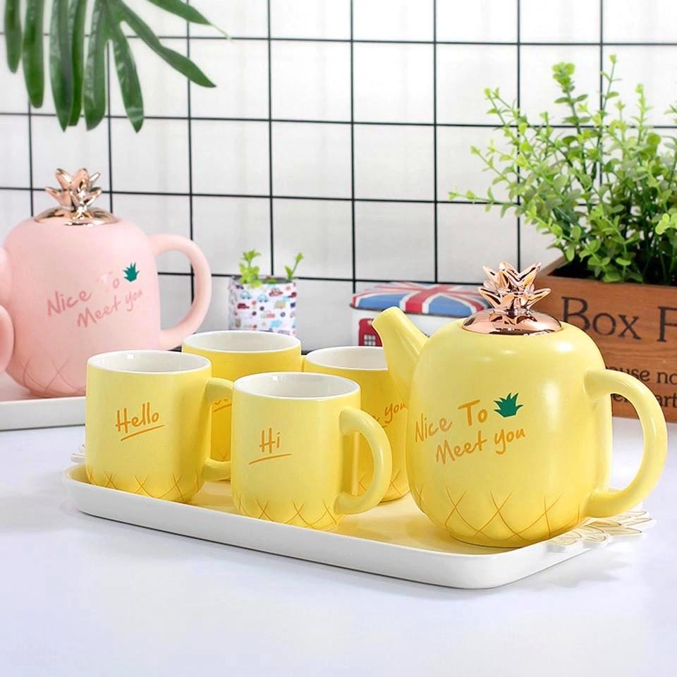 Чайный набор 6 предметов (керамика) 3016-37