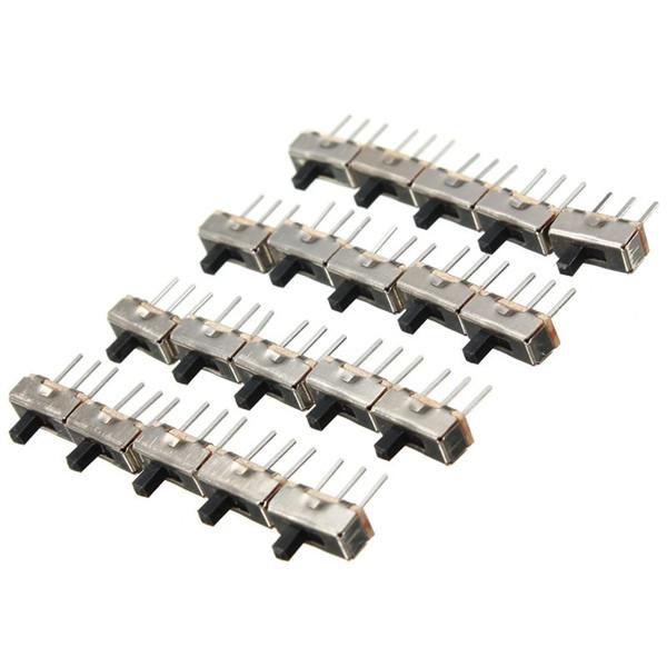 20шт SS12D00G3 2 Позиция SPDT 1P2T 3 Pin PCB Panel Мини-вертикальный переключатель слайдов - 1TopShop