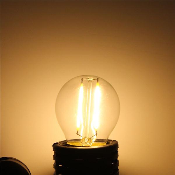 E27 G45 2W Теплый белый / белый нить Эдисона LED COB. затемняемый Лампа AC220V / 110V - 1TopShop