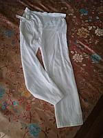 Летние женские белые льняные брюки для беременных