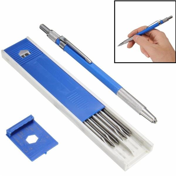 2.0 мм Держатель 2B свинца Металлический механический карандаш для рисования 12шт свинцов - 1TopShop