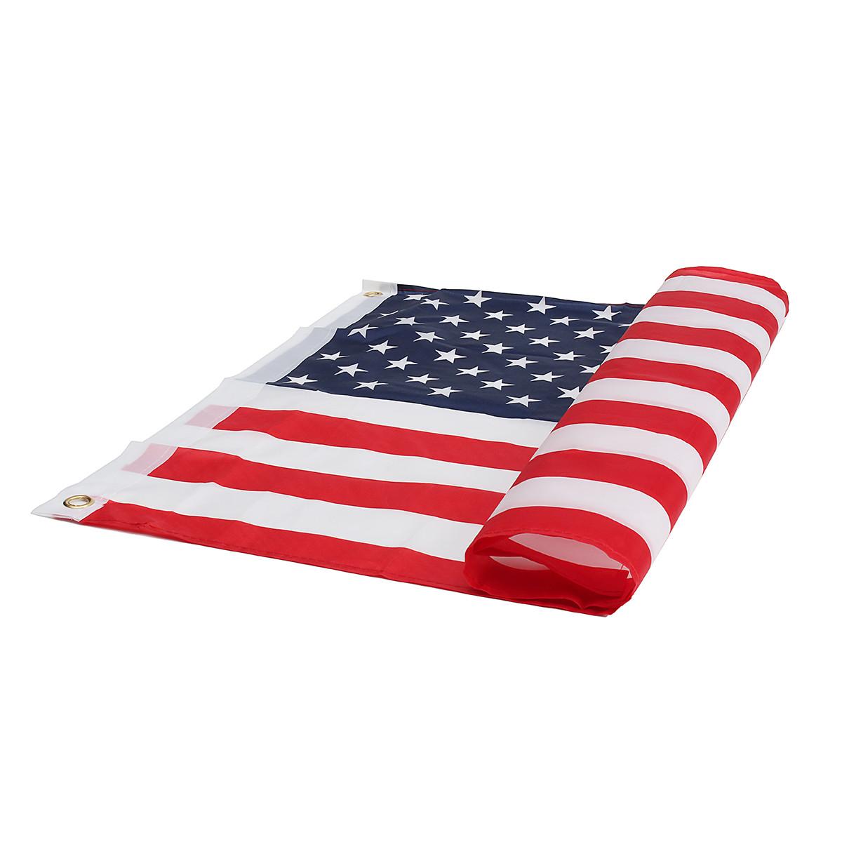 2 дюйма х 3 дюйма FT США США США США Американский флаг Полиэстер Звезды Латунная втулка мотоцикл - 1TopShop