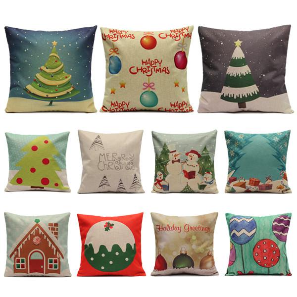 Рождественские серийные наволочки леденца домашний чехол для подушки квадрата дивана - 1TopShop