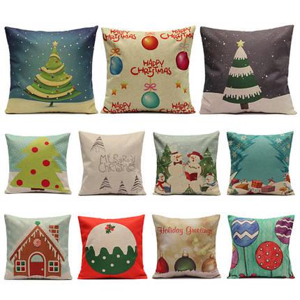 Рождественские серийные наволочки леденца домашний чехол для подушки квадрата дивана - 1TopShop, фото 2