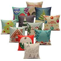 Рождественские серийные наволочки леденца домашний чехол для подушки квадрата дивана - 1TopShop, фото 3