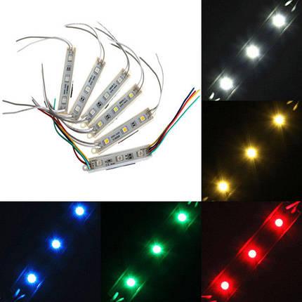 1 часть 5050 модулей smd 3 LED твердый свет последовательности полосы мультиокрашивает водонепроницаемый dc 12v - 1TopShop, фото 2