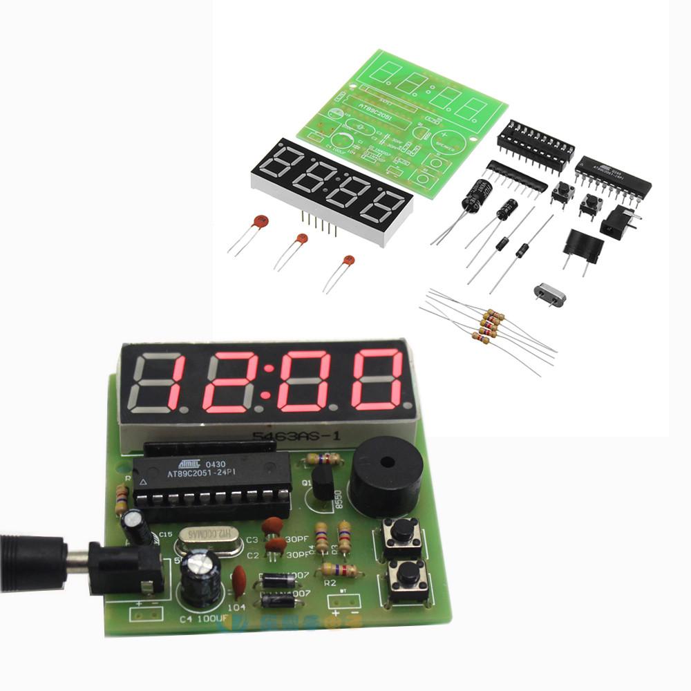 DIY Многофункциональный четырехбитный цифровой Часы MCU Часы Набор - 1TopShop