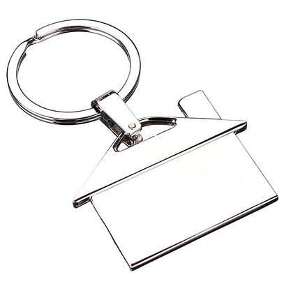 Творческое металлическое хромовое серебро обстановки подарка кулона брелока цепочки для ключей модели дома - 1TopShop, фото 2