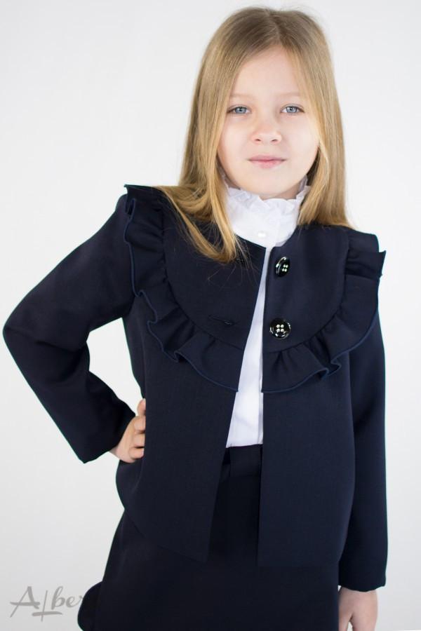 Школьный пиджак для девочки синий р. 122, 128, 134, 140, 146, 152