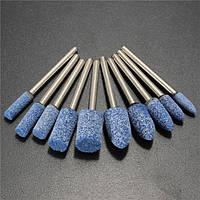 10шт 1/8 дюймов Шейн синий Абразивный каменный ротор Инструмент Шлифовальный круг для Дремель - 1TopShop