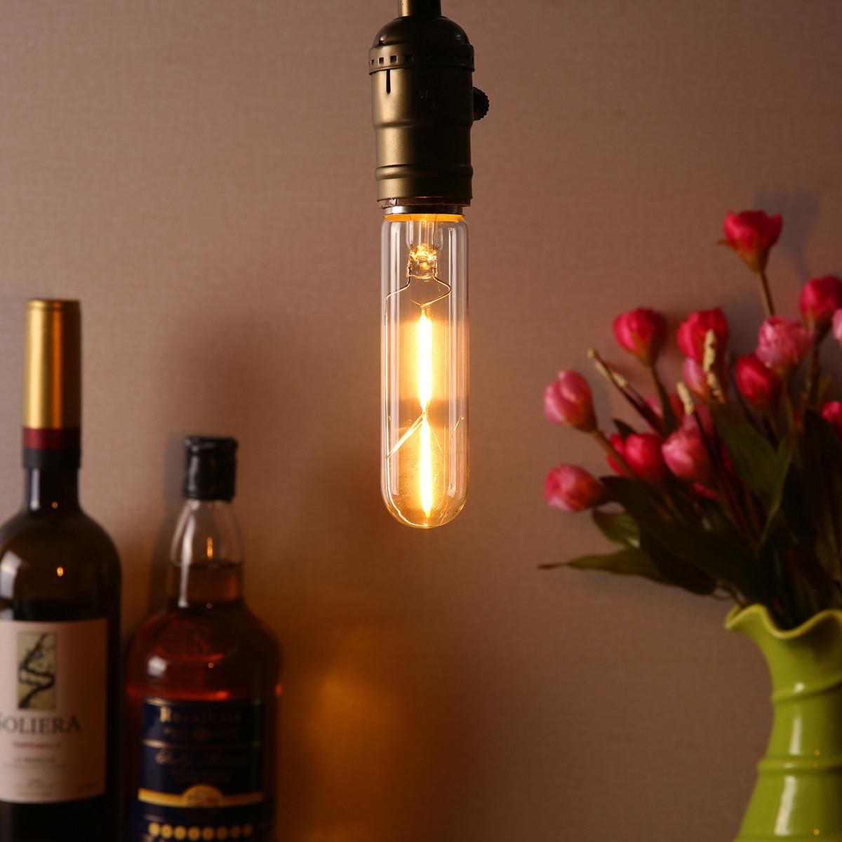 T10 E27 1.8W Теплый белый 200LM COB LED Лампа накаливания Retro Edison Лампа AC110-240V - 1TopShop