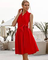 Однотонное платье женское на запах TM B&H - Красный, фото 1