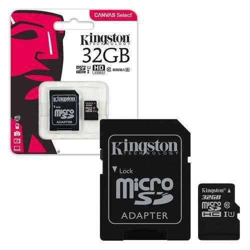 Kingston microSDHC 32GB Canvas Select Class 10 UHS-I U1 + SD-адаптер