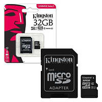 Kingston microSDHC 32GB Canvas Select Class 10 UHS-I U1 + SD-адаптер