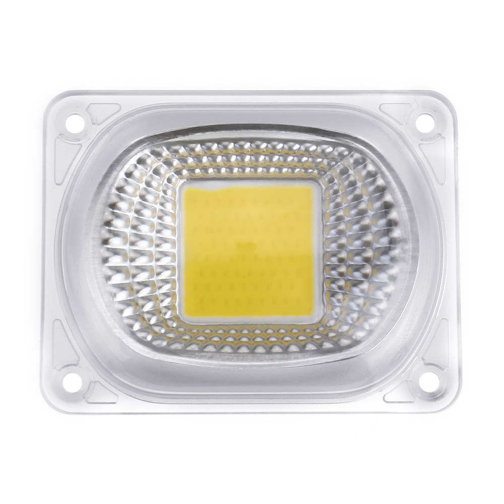 Высокая мощность 50 Вт белый / теплый белый LED COB Чип света с объективом для DIY Flood Spotlight AC220V - 1TopShop