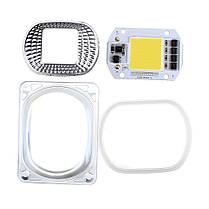 Высокая мощность 50 Вт белый / теплый белый LED COB Чип света с объективом для DIY Flood Spotlight AC220V - 1TopShop, фото 3