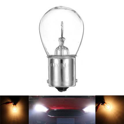 1 Шт. S25 1156 BA15S 1141 Авто Галогенные лампы накаливания заднего хода Лампа Лампа 12В Желтая - 1TopShop, фото 2