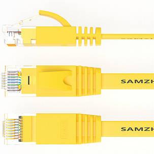 SAMZHE 1 ~ 15M CAT6 UTP 1000 Мбит / с Гигабитный плоский RJ45 Соединительный кабель Ethernet Сетевой кабель LAN - 1TopShop, фото 2