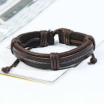Ретро плетеный кожаный браслет Многослойный браслет Коричневый браслет для мужчин - 1TopShop, фото 2