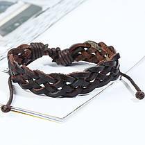 Ретро плетеный кожаный браслет Многослойный браслет Коричневый браслет для мужчин - 1TopShop, фото 3