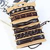 Ретро плетеный кожаный браслет Многослойный браслет Коричневый браслет для мужчин - 1TopShop, фото 6