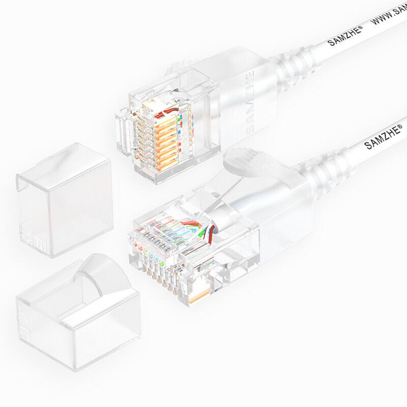 SAMZHE 0.5 ~ 5M 10 Гбит / с Ultrafine CAT6A Белый соединительный кабель Ethernet Тонкий Сетевой кабель локальной сети - 1TopShop