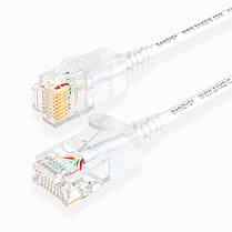 SAMZHE 0.5 ~ 5M 10 Гбит / с Ultrafine CAT6A Белый соединительный кабель Ethernet Тонкий Сетевой кабель локальной сети - 1TopShop, фото 2