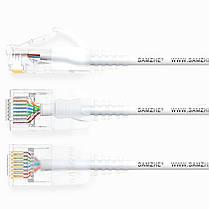 SAMZHE 0.5 ~ 5M 10 Гбит / с Ultrafine CAT6A Белый соединительный кабель Ethernet Тонкий Сетевой кабель локальной сети - 1TopShop, фото 3