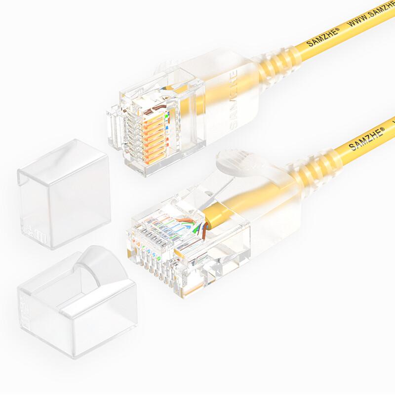 SAMZHE 0.5 ~ 5M 10Gbps Ultrafine CAT6A Желтый соединительный кабель Ethernet Тонкий Сетевой кабель локальной сети - 1TopShop
