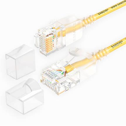 SAMZHE 0.5 ~ 5M 10Gbps Ultrafine CAT6A Желтый соединительный кабель Ethernet Тонкий Сетевой кабель локальной сети - 1TopShop, фото 2