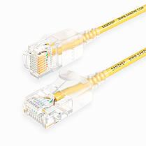 SAMZHE 0.5 ~ 5M 10Gbps Ultrafine CAT6A Желтый соединительный кабель Ethernet Тонкий Сетевой кабель локальной сети - 1TopShop, фото 3