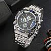 STRYVES8018МужчиныПолнаяСтальВодонепроницаемы Дата Недели Chrono Alarm Часы Двойной Дисплей Цифровые Часы - 1TopShop, фото 6